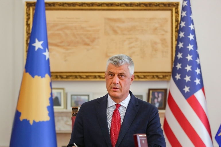 Kosovo's President Hashim Thaci has resigned to face war crimes charges at an international court [File: Visar Kryeziu/AP]
