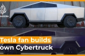 Tesla fan can't wait, builds his own Cybertruck [Daylife]