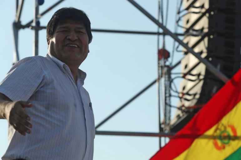 Human Rights Watch found no evidence Bolivia's former President Evo Morales 'committed terrorism acts' but said he had used the justice system against his opponents during his 13-year tenure [File: Marcelo Ruiz/Reuters]