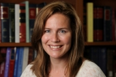 US Appeals Court Judge Amy Coney Barrett would be the youngest justice on the Supreme Court and her lifetime appointment would likely shape US law for decades [Notre Dame University/Handout via Reuters]