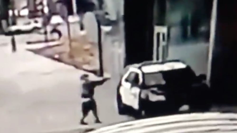 Police released surveillance video footage that showed the shooting