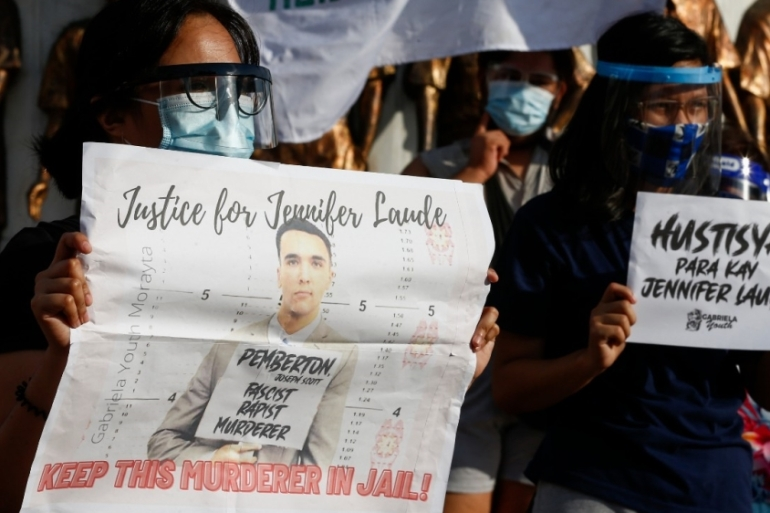 President Rodrigo Duterte's move to pardon Pemberton has sparked condemnation from activists who described the move as a 'mockery of justice' [Rolex dela Pena/EPA]