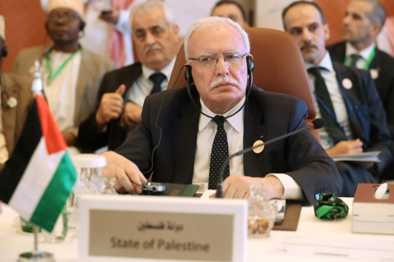 Palestinian Foreign Minister Riyad al-Maliki's permit was seized on Sunday [File: Hamad I Mohammed/Reuters]
