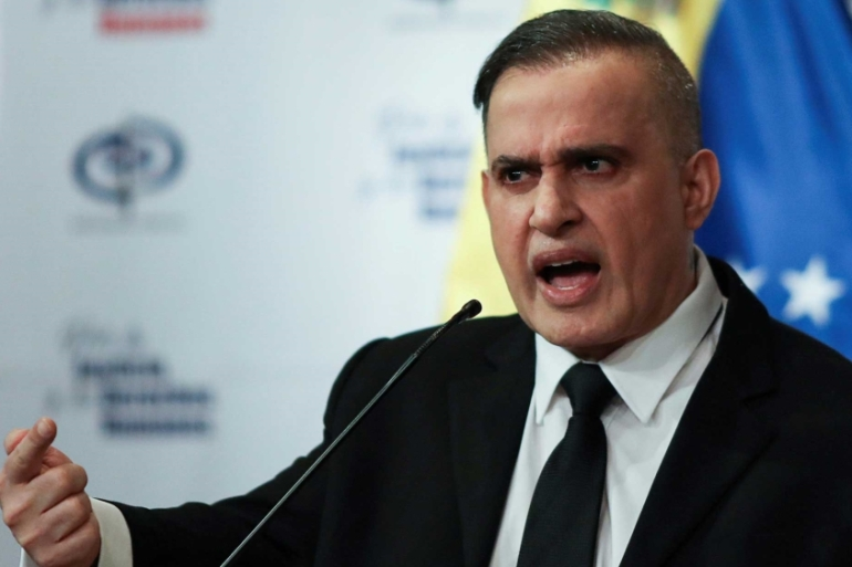 Venezuela's chief prosecutor Tarek William Saab announced charges of 'terrorism' and weapons trafficking  against American Matthew John Heath [File: Manaure Quintero/Reuters]