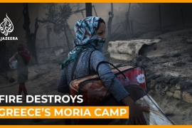 Refugees flee as fire destroys Greece's overcrowded Moria camp [Daylife]