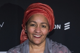 Amina Mohammed attends the Whitaker Peace & Development Initiative 'Place for Peace' benefit gala at Gotham Hall on Sept 27, 2019, in New York [Charles Sykes/Invision/AP]