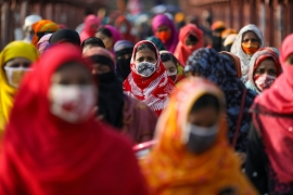 Asian garment workers, including those in places like Bangladesh, supplying global fashion brands lost up to $5.8bn in wages from March to May, according to the Clean Clothes Campaign [File: Mohammad Ponir Hossain/Reuters]