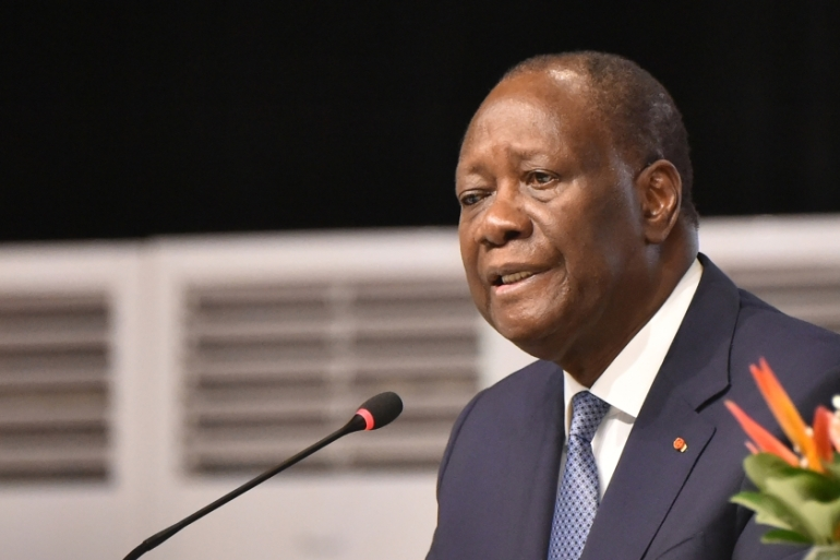 Ouattara had ignited political unrest last year when he announced he would seek a third term in office [File: Sia Kambou/AFP]