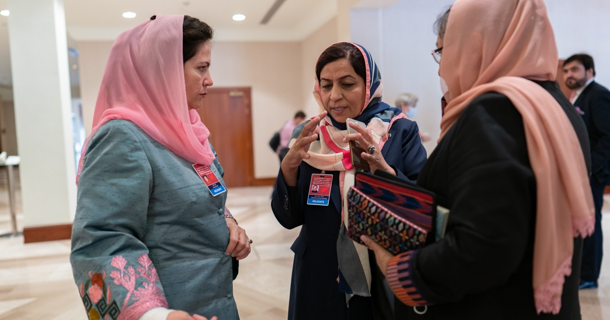 Who are the Afghan women negotiating peace with the Taliban ...