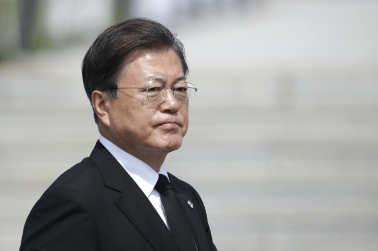 President Moon and his party are currently facing multiple challenges, including the country's worst unemployment crisis since 1997(AP Photo/Lee Jin-man, Pool)