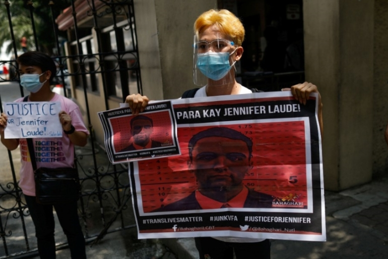 Pemberton was jailed in 2015 for killing Jennifer Laude near a former US navy base north of the capital, Manila [Eloisa Lopez/Reuters]