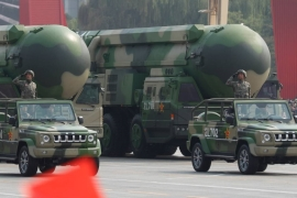 Earlier this year, Global Times said Beijing needed to expand the number of its nuclear warheads to 1,000 in a relatively short time [File: Wu Hong/EPA]
