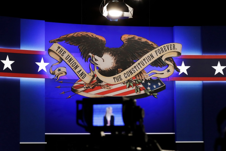 Persiapan sedang dilakukan untuk debat presiden kedua 2016.  [File: Foto AP / John Locher]