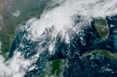 Tropical Storm Beta in the Gulf of Mexico (NOAA via AP) (AP)