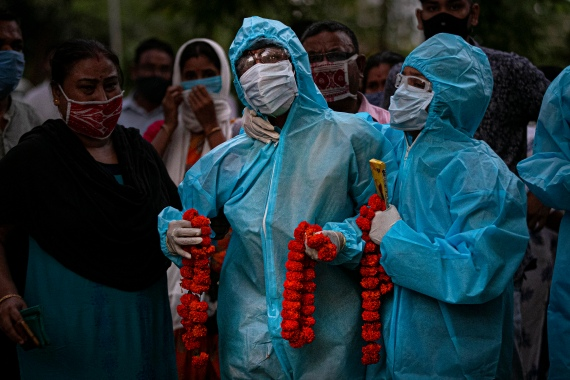 Nearly 100,000 Indians have died due to COVID-19, the disease caused by the virus [File: Anupam Nath/AP Photo]