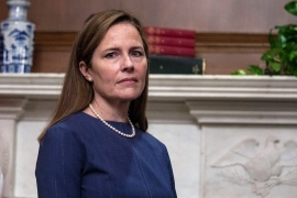 Judge Amy Coney Barrett, President Donald Trump's nominee to the Supreme Court, at the Capitol [Tasos Katopodis/Pool via AP Photo]