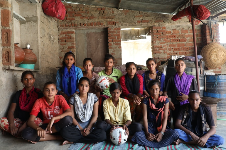 Thanks to an initiative by local NGO MJAS, football has helped girls from Ajmer district in Rajasthan state overcome societal taboos [Valay Singh/Al Jazeera]