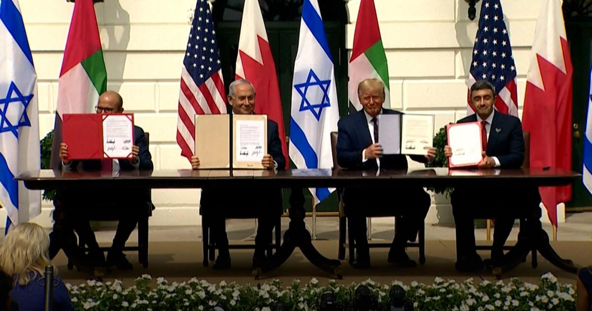 Israel, UAE and Bahrain sign US-brokered normalisation deals - aljazeera