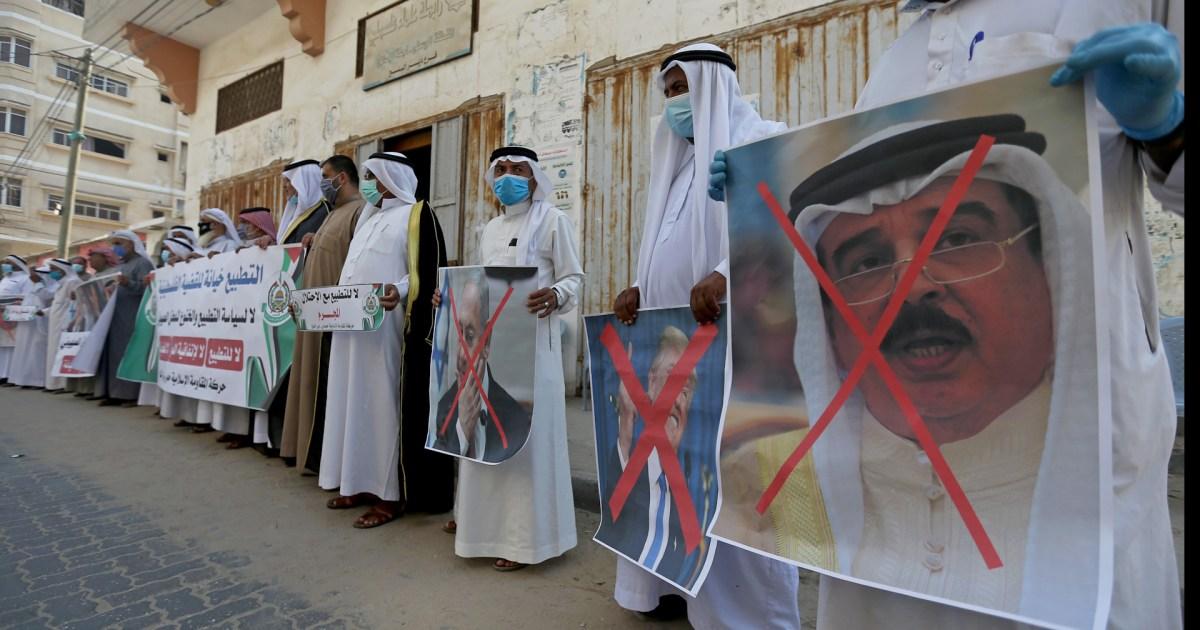 Palestinians rally against Bahrain-Israel normalisation - aljazeera