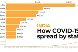 Infographic: How coronavirus spread across India
