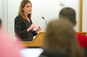 Amy Coney Barrett, a conservative jurist and constitutional scholar, was named to the federal appeals court in 2017 by United States President Donald Trump [Matt Cashore/University of Notre Dame/Handout Photo]