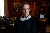 Associate Justice Ruth Bader Ginsburg in her chambers at the Supreme Court in Washington [File: AP Photo/Charles Dharapak]