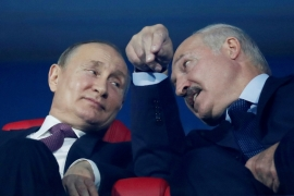 Putin has congratulated Lukashenko on his recent victory, but amid protests later described the vote as not ideal [File: Vasily Fedosenko/Reuters]