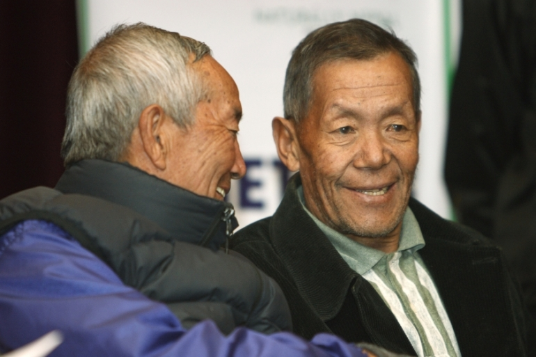 "Nepal's tourism department said Ang Rita's (right) contribution to mountaineering ""will always be remembered"" [File: Gopal Chitrakar/Reuters]"