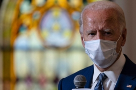 Democratic presidential candidate former Vice President Joe Biden meets with members of the community at Grace Lutheran Church in Kenosha, Wisconsin [AP Photo/Carolyn Kaster]