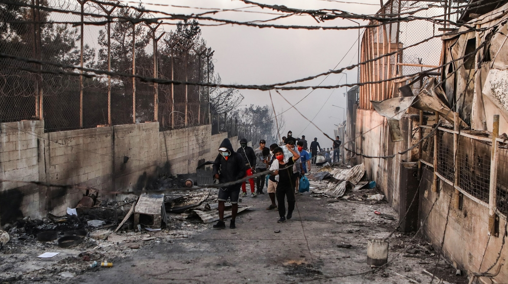 Greece: Four Afghan migrants jailed over Moria camp fire