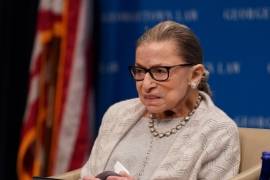 US Supreme Court Justice Ruth Bader Ginsburg's death has left a vacancy on the top US court [File: Sarah Silbiger/Reuters]