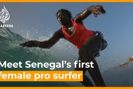 Senegal's first female pro surfer inspires girls to ride the waves [Daylife]