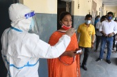 India is on course to overtake the United States in the coming weeks as the country with the most coronavirus cases [File: EPA]
