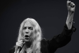 Patti Smith performs at a Pathway To Paris event (Restricted Use)