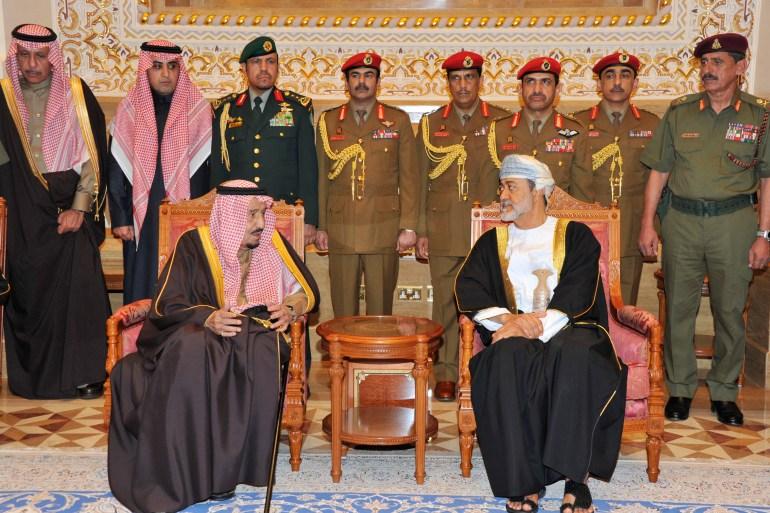 Saudi Arabia's King Salman bin Abdulaziz (left) and Omani Sultan Haitham bin Tariq Al Said (right) were reportedly involved in the apparent swap [File: Omani News Agency/AFP]