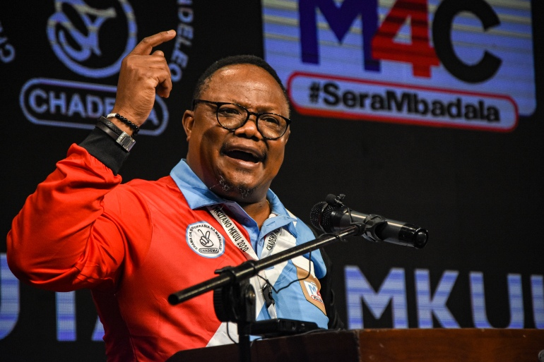 Presidential candidate Tundu Lissu was arrested in Dar es Salaam as he was leaving European Union missions [File: STR/AFP]