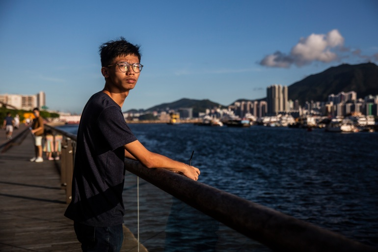 Tony Chung is a former member of Studentlocalism, a small group that advocated Hong Kong's independence from China [Isaac Lawrence/ AFP].