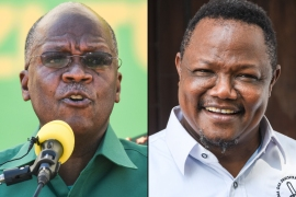 President John Magufuli (left) will face off against main challenger Tundu Lissu (right) [File: AFP]