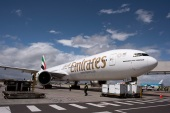 Emirates said it does not believe the violation deserves enforcement action but agreed to the fine to settle the matter [Rodger Bosch/AFP]