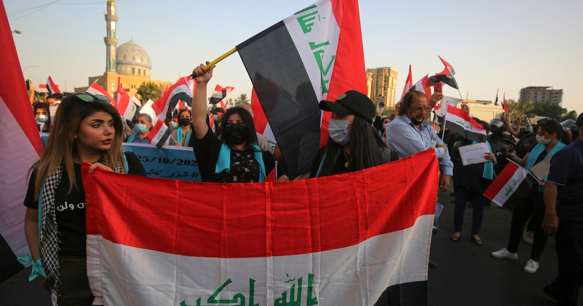 Thousands mark anti-government protests anniversary in Iraq thumbnail