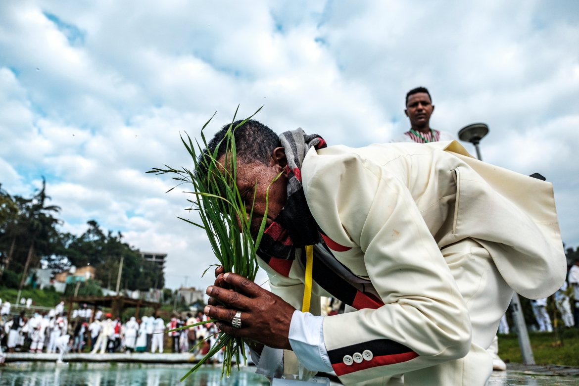 The festival is traditionally held in the city of Bishoftu, Oromia, some 50km (30 miles) southeast of Addis Ababa. [Eduardo Soteras/AFP]
