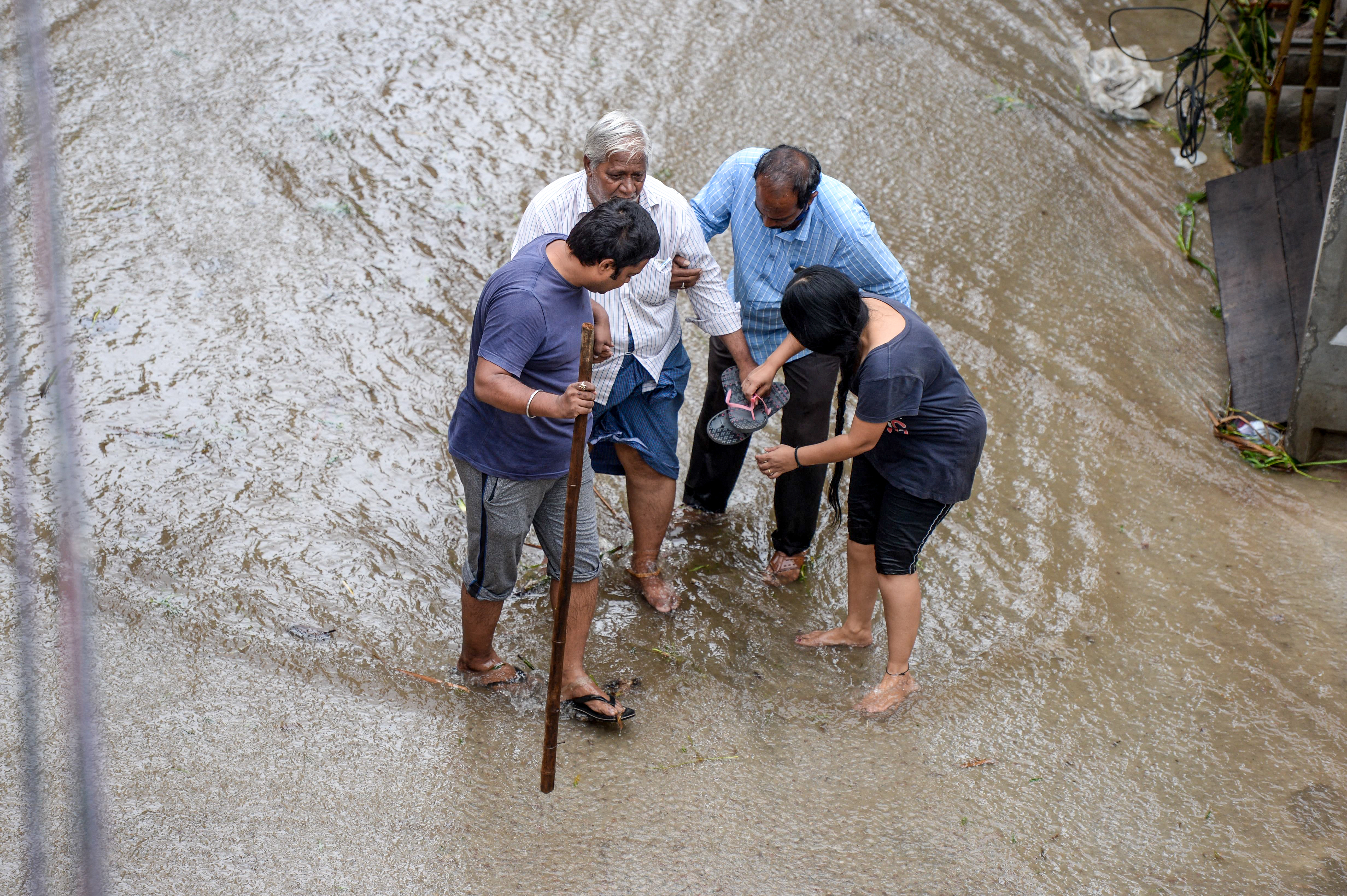 Indian metropolis Hyderabad inundated by highest rain in 100 years