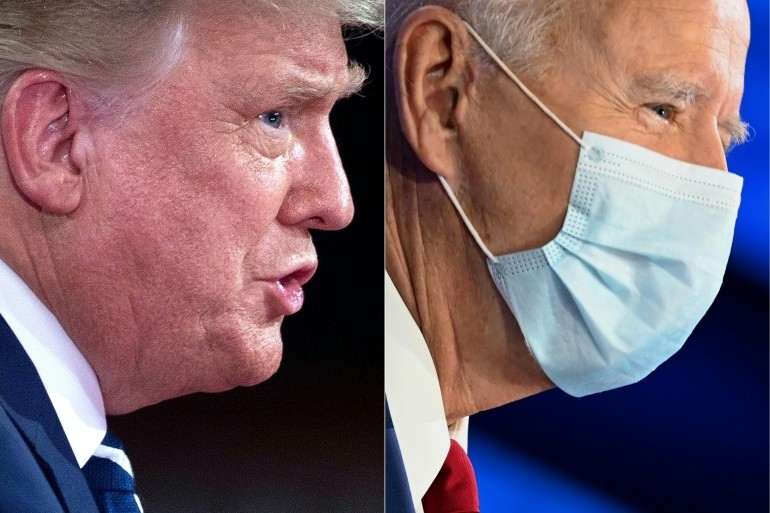 Trump's event is in Miami and Biden is in Philadelphia [Brendan Smialowski and Jim Watson/AFP]