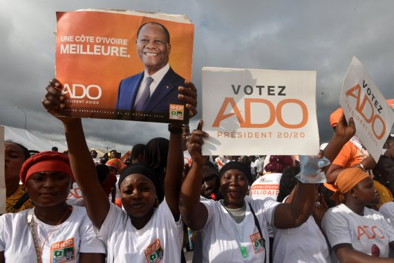 President Ouattara officially launched his campaign on Friday [Sia Kambou/AFP]
