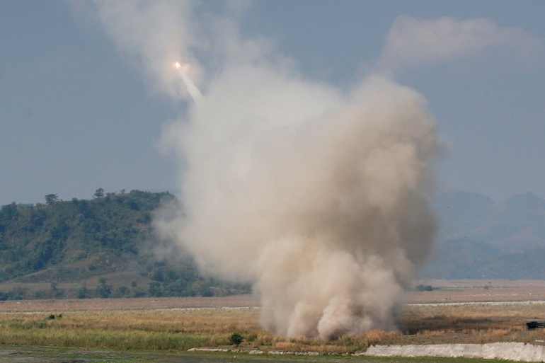 China has criticised US plans to sell advanced weapons - including High Mobility Artillery Rocket Systems (HIMARS) to Taiwan [File: Erik De Castro/Reuters]