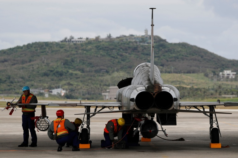 The F-5E is an older generation fighter with a design that dates back to the 1960s [File: Tyrone Siu/Reuters]