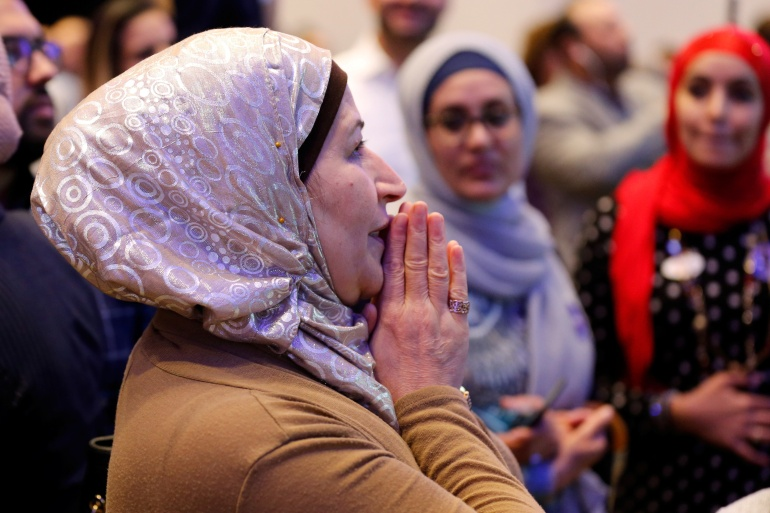 The estimated 3.45 million Muslims in the US - only about one percent of the total population - but their concentrations in key swing and battleground states, could make their vote especially impactful [File: Jeff Kowalsky/Reuters]