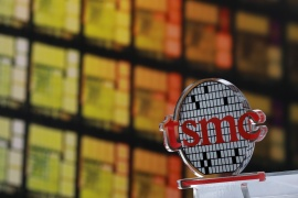 TSMC reported a 19.4-percent rise in first-quarter profit, beating market expectations on strong demand for chips as more people work from home [File: Tyrone Siu/Reuters]