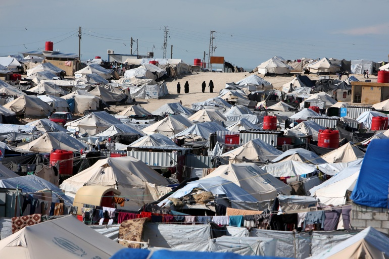 A view of al-Hol displacement camp in Hasaka governorate, Syria [Ali Hashisho/Reuters]
