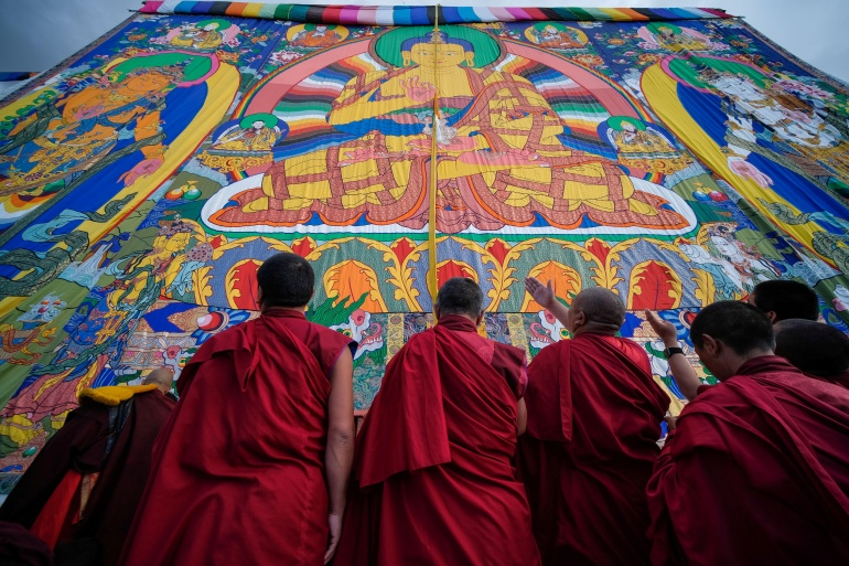 Human rights activists say Beijing suppresses local culture, the Buddhist religion and minorities in Tibet [File: He Penglei/CNS via Reuters]